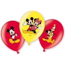 Globos Mickey Mouse 6 unidades