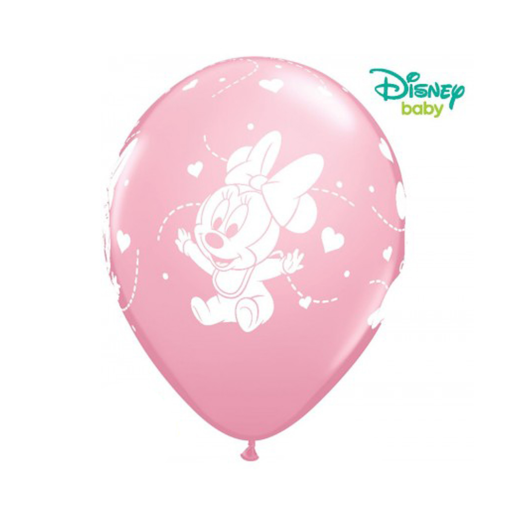 Pack de 6 Globos Minnie Mouse Bebé 30 cm