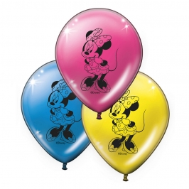 Globos Minnie Mouse 8 unidades