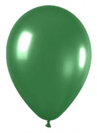 Pack de 10 globos verde metalizado