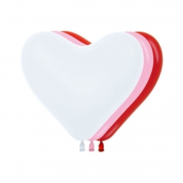 Pack de 12 Globos Corazón 30 cm