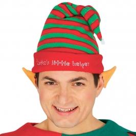 Gorro Elfo Rayas Rojas y Verdes