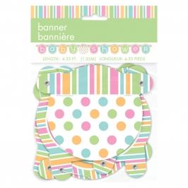 Guirnalda Baby Shower Colores Pastel