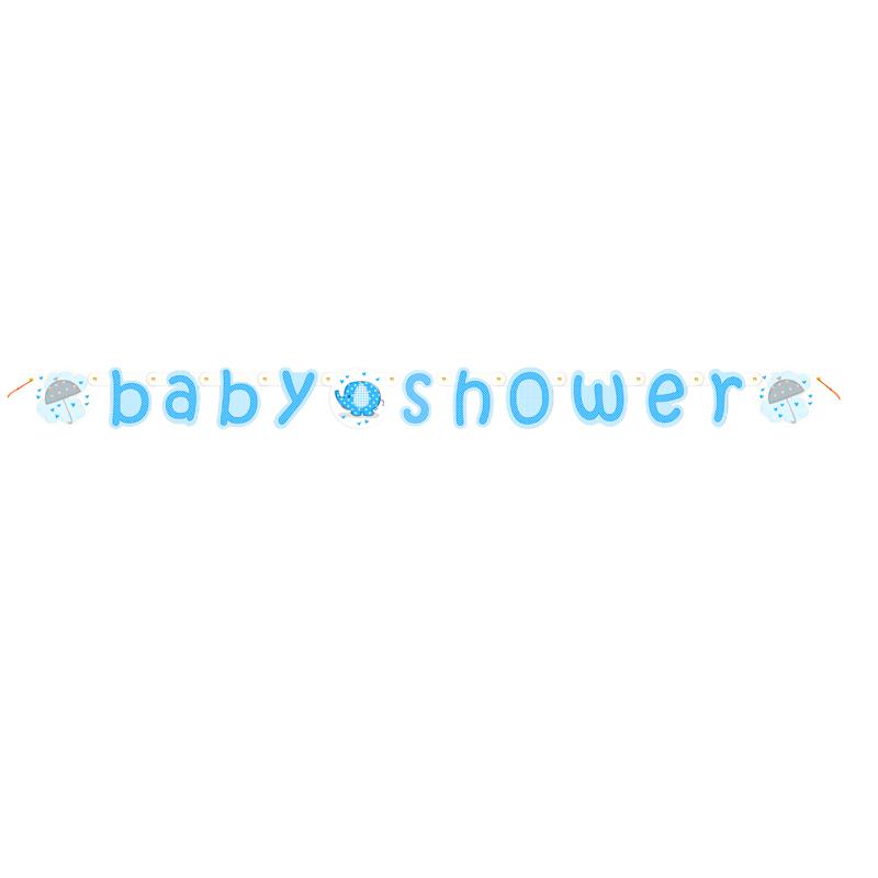 Guirnalda Baby Shower Elefante Azul