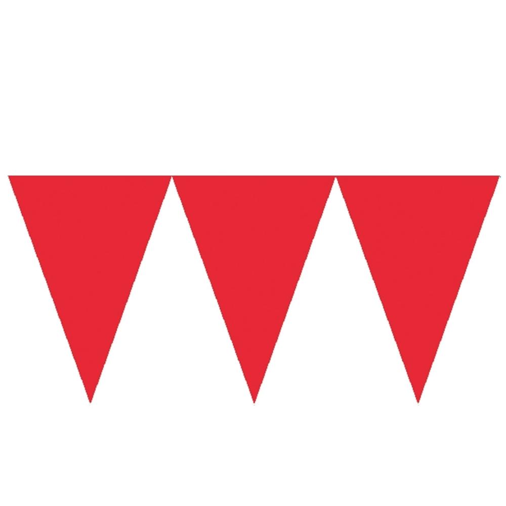 Banderín de Papel Rojo 4,5 metros