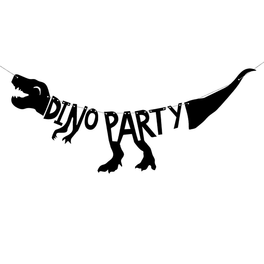 Guirnalda de dinosaurio negra de 20x90 cm
