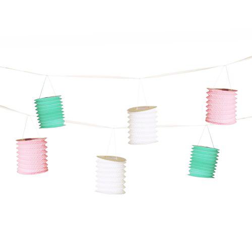 Guirnalda decorativa con 8 Farolillos color pastel