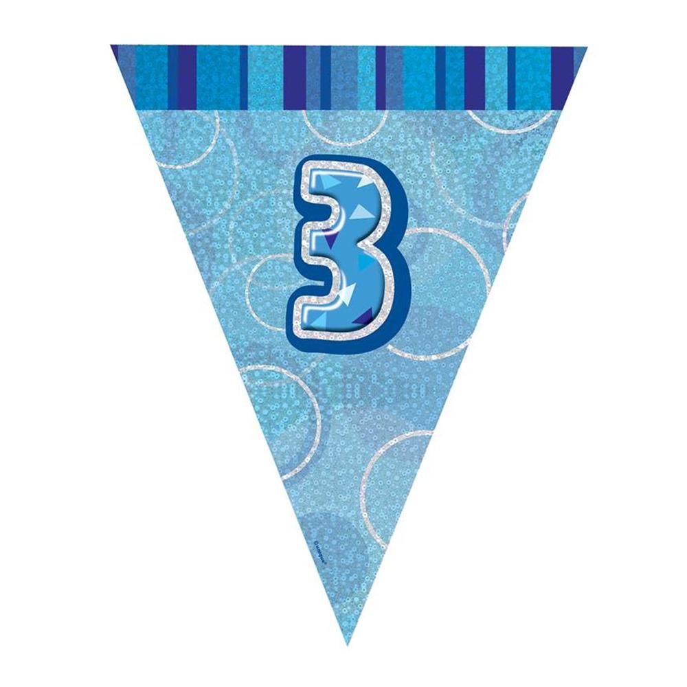 Guirnalda decorativa nº 3 Azul Brillante