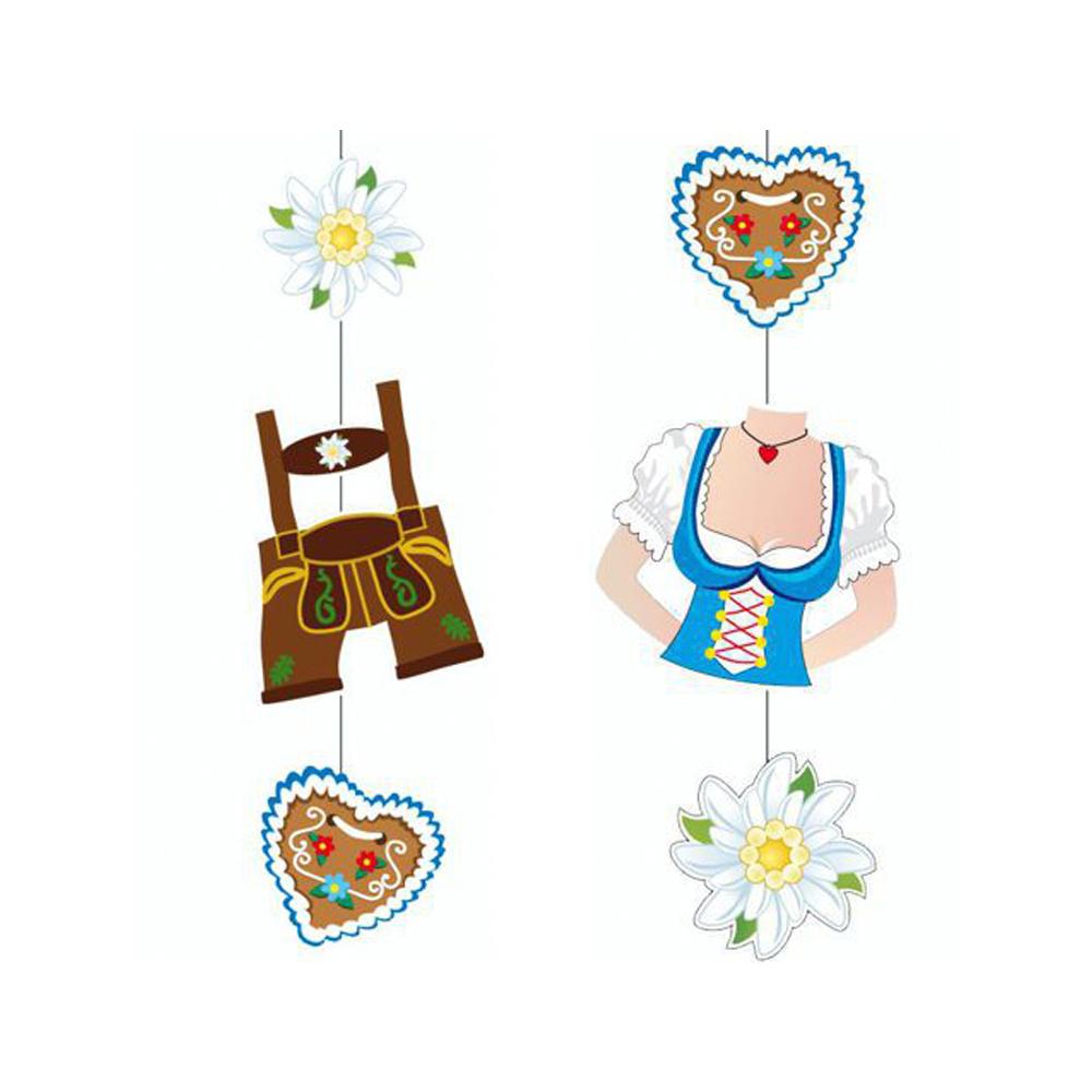 Guirnalda decorativa trajes tradicionales