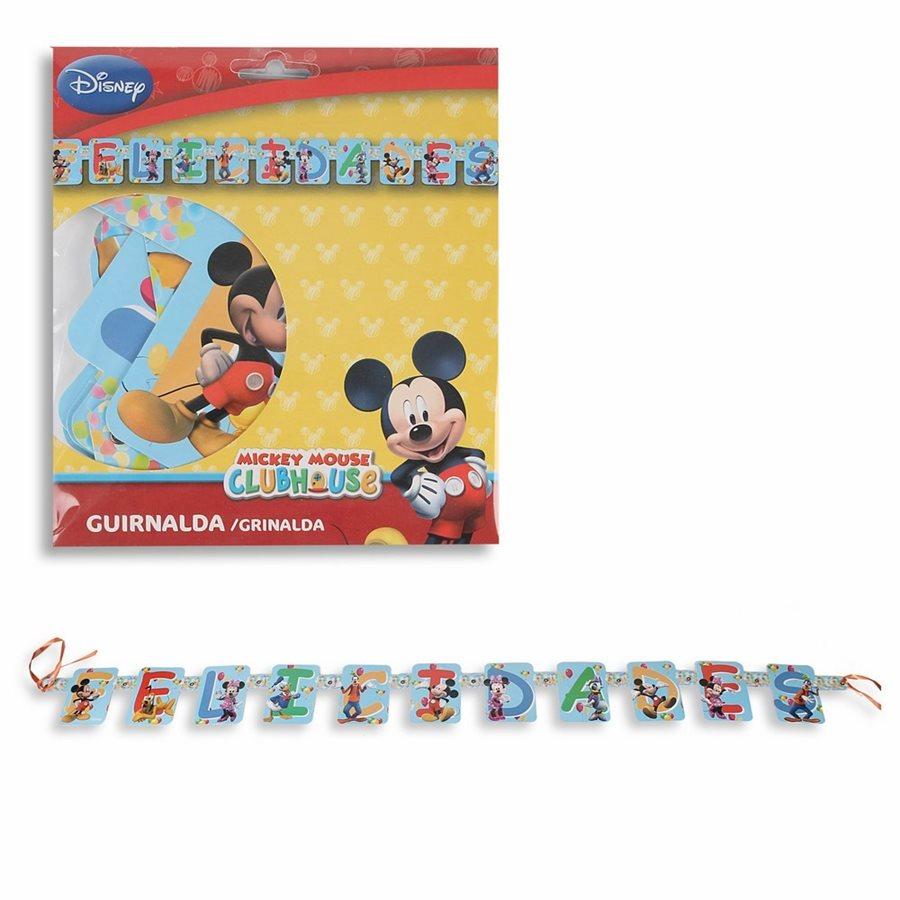 Guirnalda Felicidades de Mickey Mouse