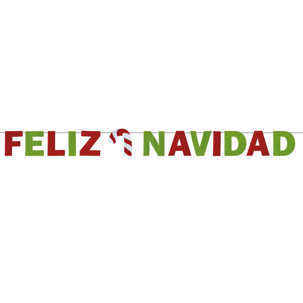 Guirnalda Feliz Navidad Fieltro Envíos 24 Horas