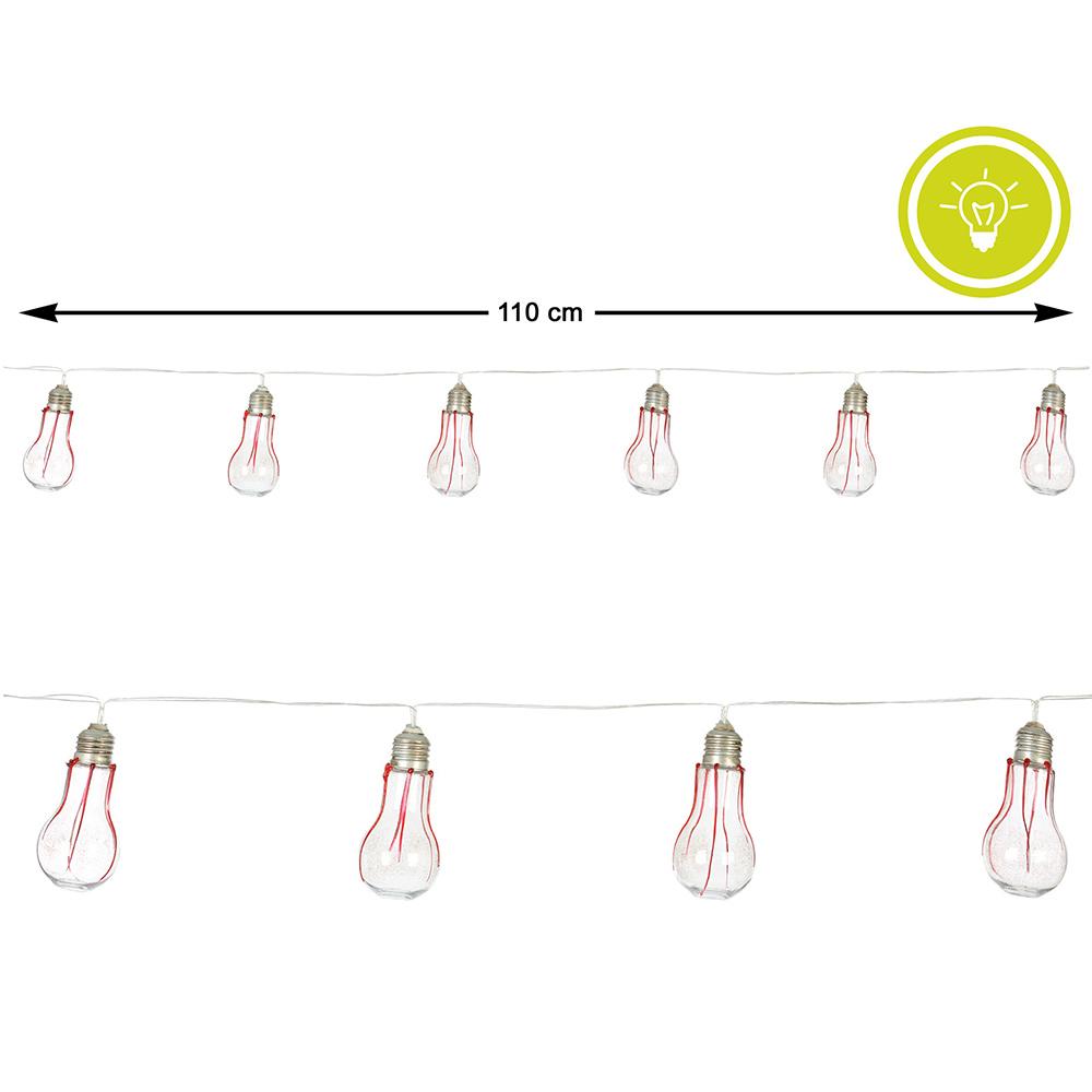 Guirnalda Halloween Bombillas Sangrientas con Luz 1,10 m