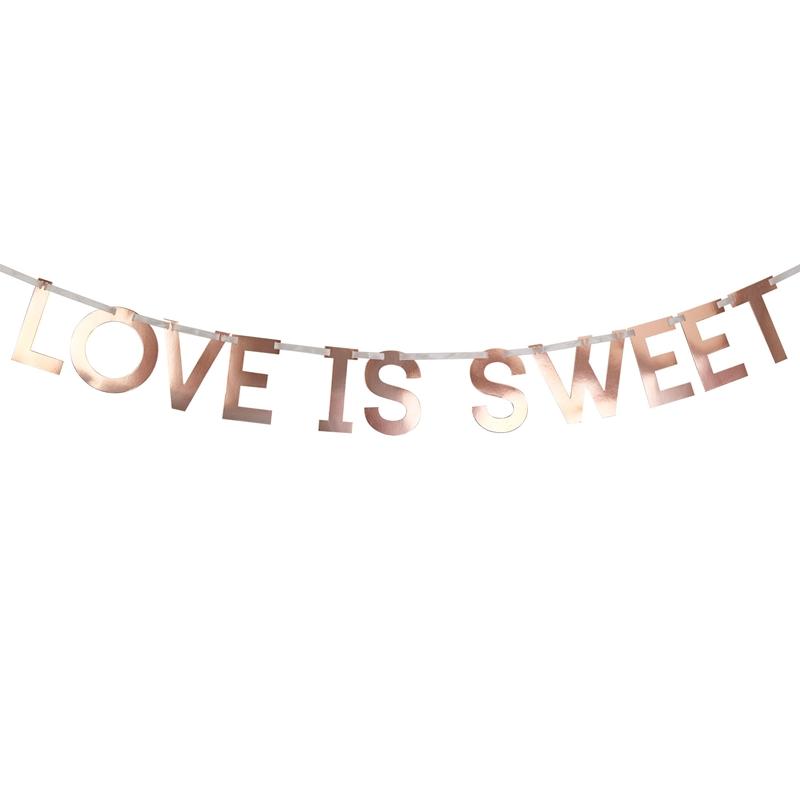 Guirnalda Love is Sweet Oro Rosado