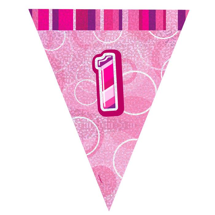 Guirnalda Nº 1 Rosa