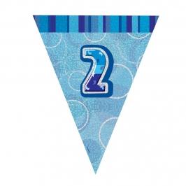 Guirnalda Nº 2 Azul Brillante