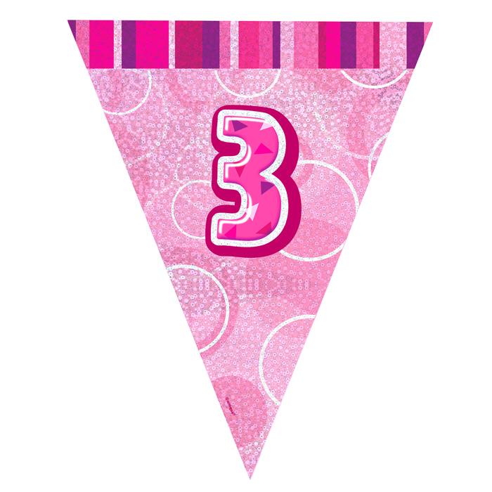 Guirnalda Nº 3 Rosa