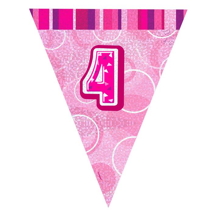 Guirnalda Nº 4 Rosa