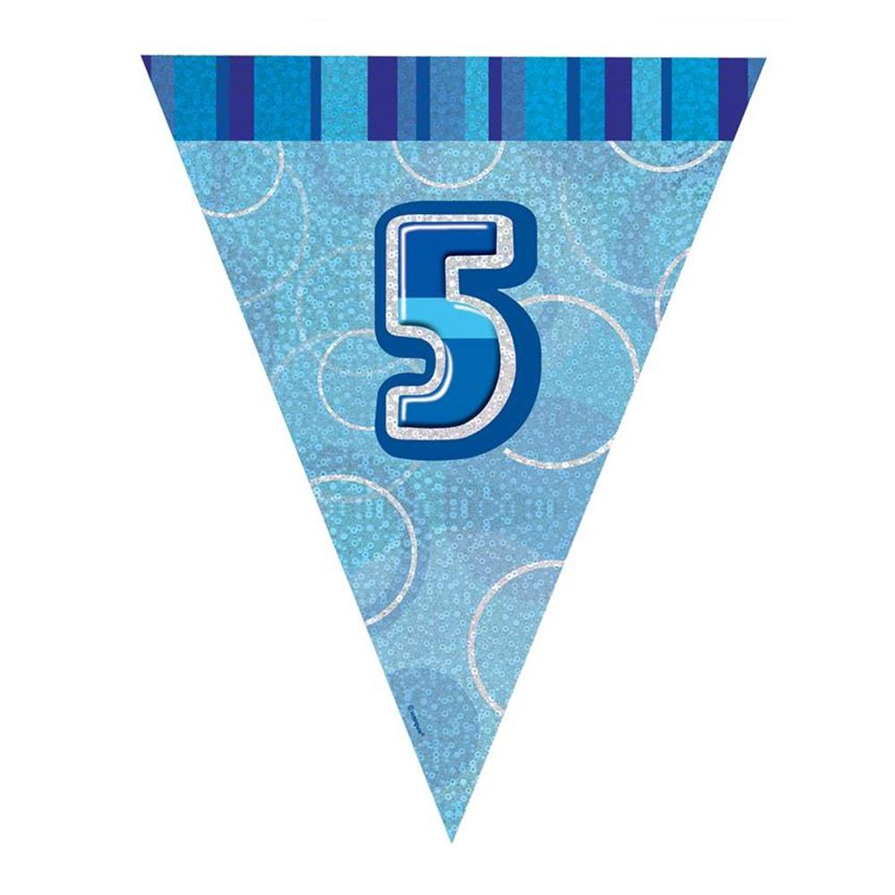 Guirnalda nº 5 Azul Brillante
