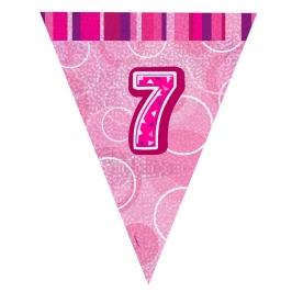 Guirnalda Nº 7 Rosa