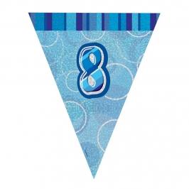 Guirnalda Nº 8 Azul Brillante