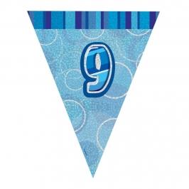 Guirnalda Nº 9 Azul Brillante