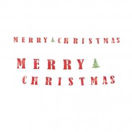 Guirnalda Navidad Merry Christmas 3,60 m