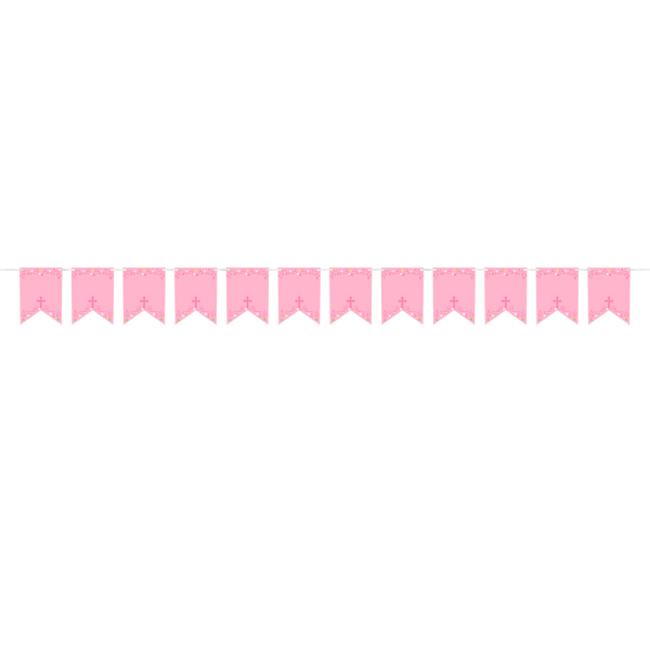 Guirnalda Personalizable Comunión Rosa