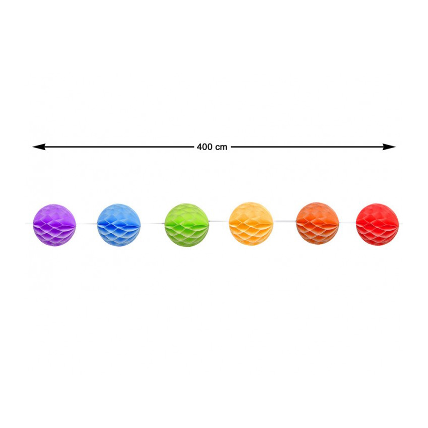 Guirnalda Nido de Abeja Multicolor 4 m