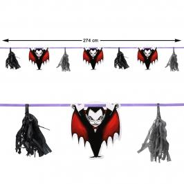 Guirnalda Vampiro Halloween 2,74 m