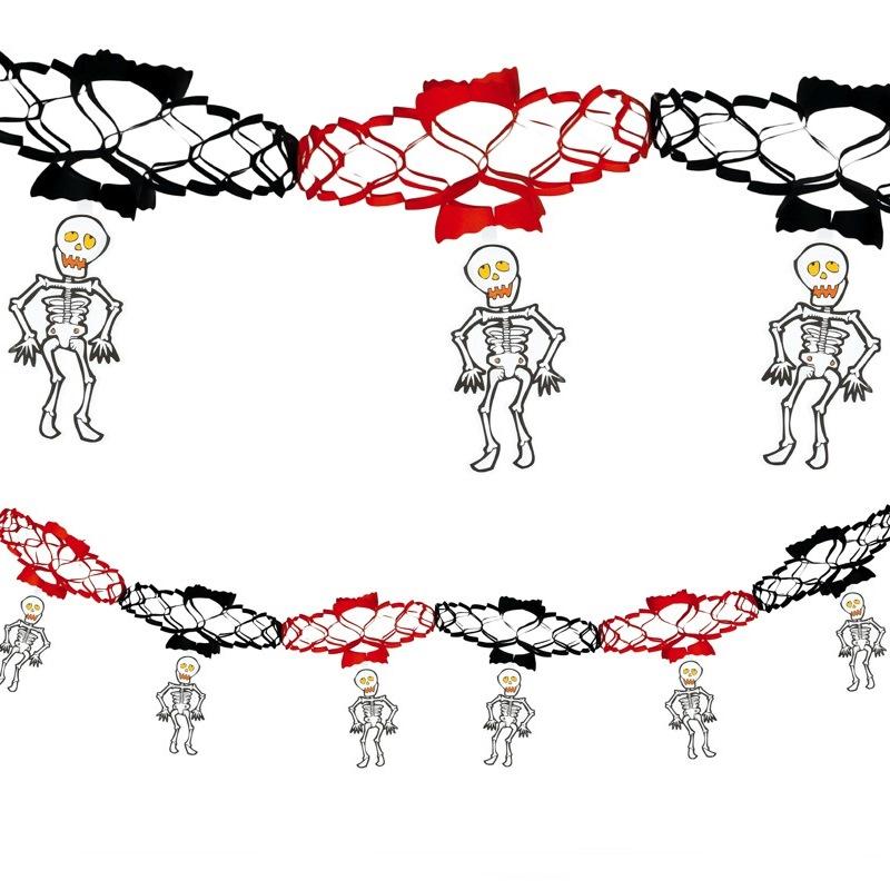 Guirnalda de Papel Esqueletos 2 metros