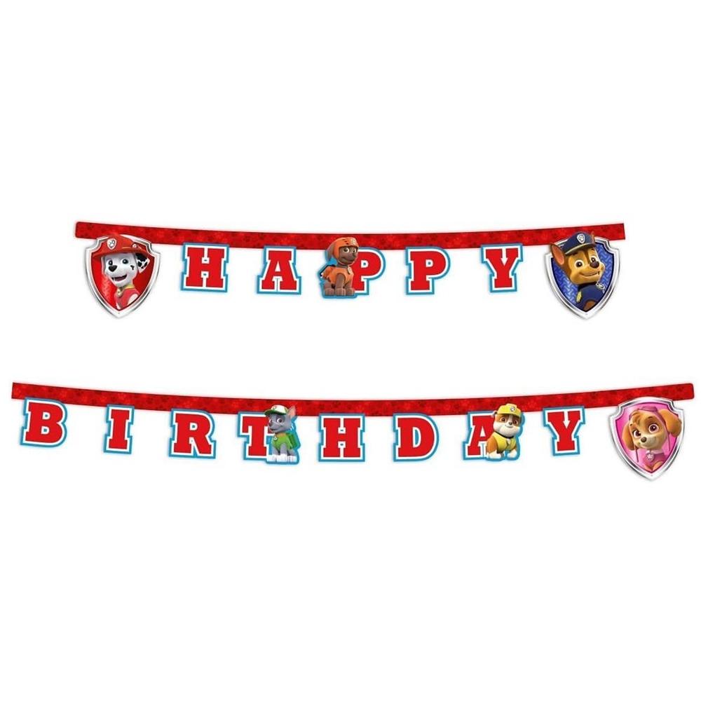 Guirnalda Feliz Cumpleaños Patrulla Canina