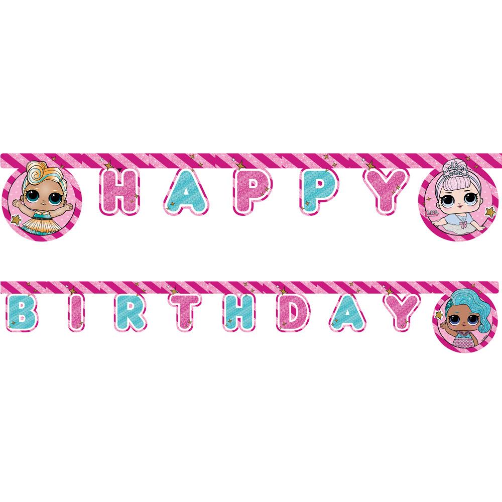 Guirnalda Happy Birthday Muñecas LOL Surprise!