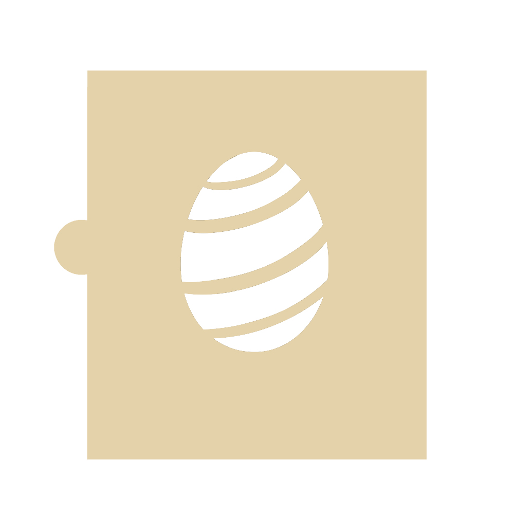 Stencil Huevo de Pascua con Rayas 5 cm