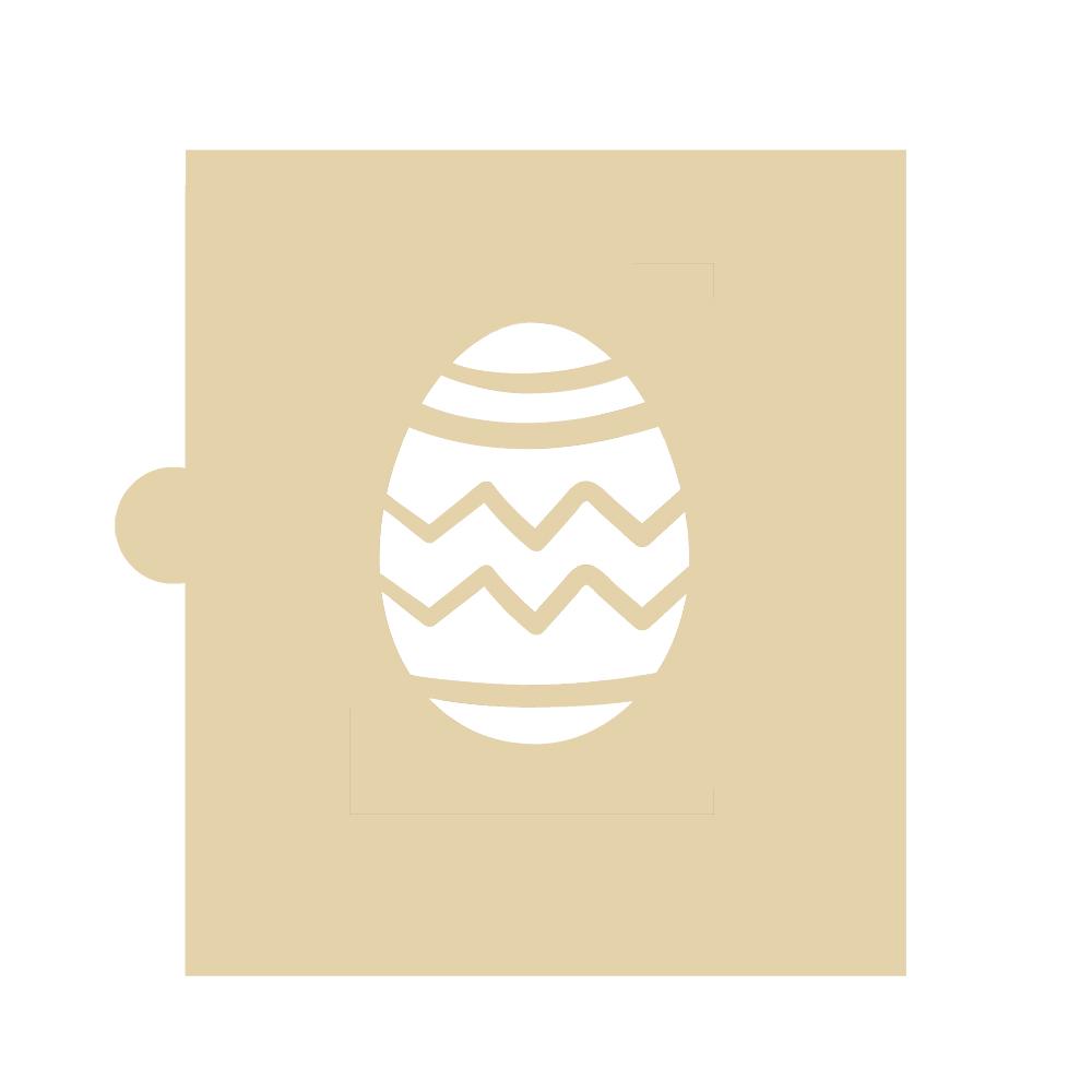 Stencil Huevo de Pascua Zig Zag 5 cm