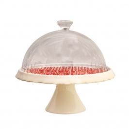 Stand de cerámica para tartas Ginger Rosso 22cm