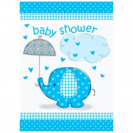 Invitaciones Baby Shower Elefante Azul