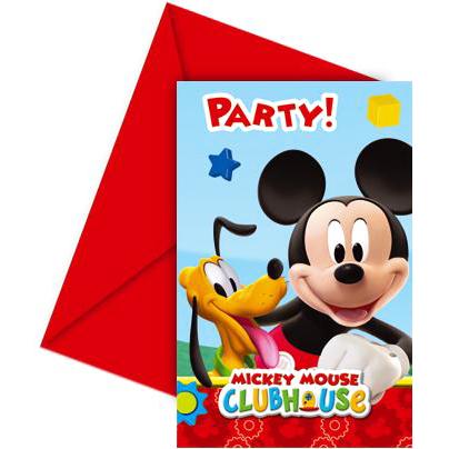 Invitaciones Cumpleaños Mickey Mouse