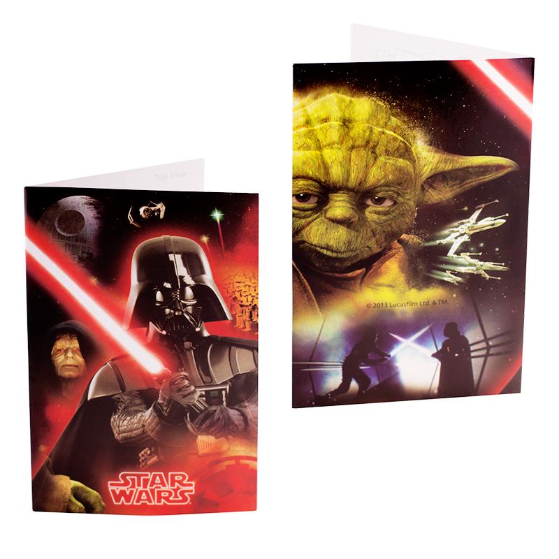Invitaciones Fiesta de Cumpleaños Star Wars - My Karamelli