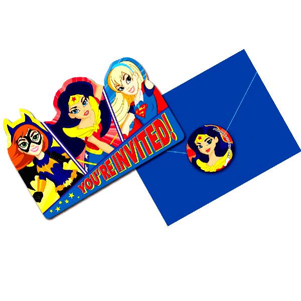 Invitaciones Super Hero Girls