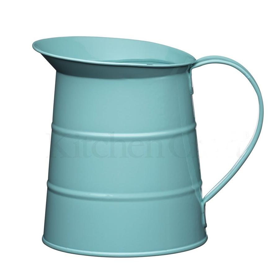 Jarra metálica vintage color azul