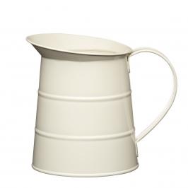 Jarra metálica vintage color crema
