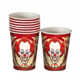 Juego  8 Vasos Payaso Halloween