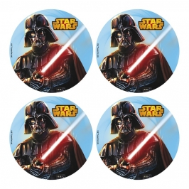 Juego de 12 discos de oblea Star Wars 4,5cm
