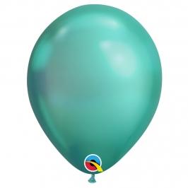Juego 25 Globos Chrome Verdes