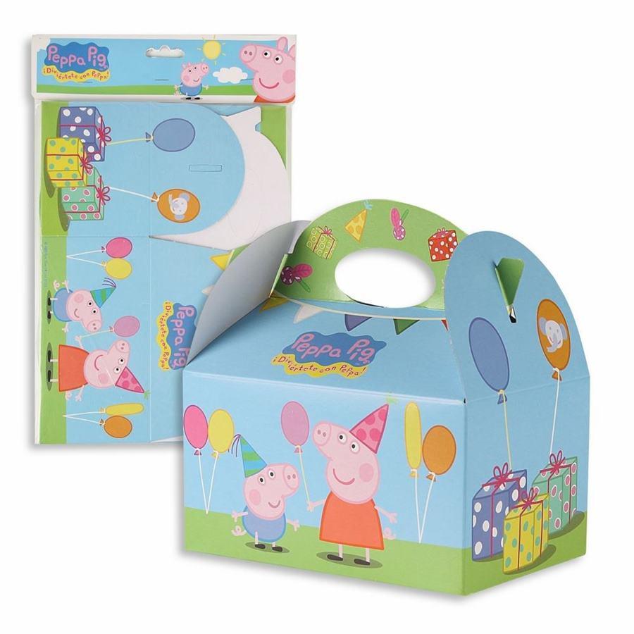 Juego 4 cajas para dulces Peppa Pig