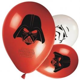 Juego 8 globos de látex Star Wars