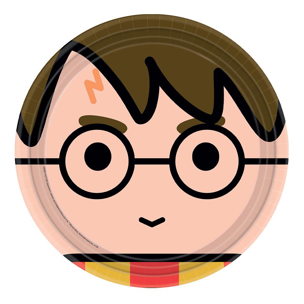 Juego 8 Platos Harry Potter 23 cm