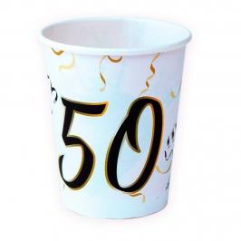 Juego 8 Vasos 50Cumpleaños