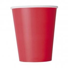 Juego 8 Vasos Rojos