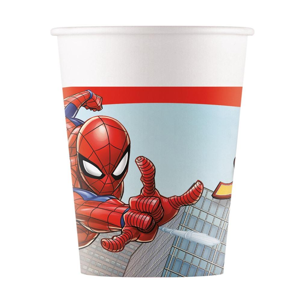 Juego 8 Vasos Spiderman